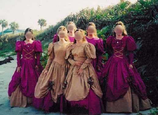 e36f6dee44 Renaissance Maids on Steroids - A heavy dress worn in the dead of summer in  FLORIDA.